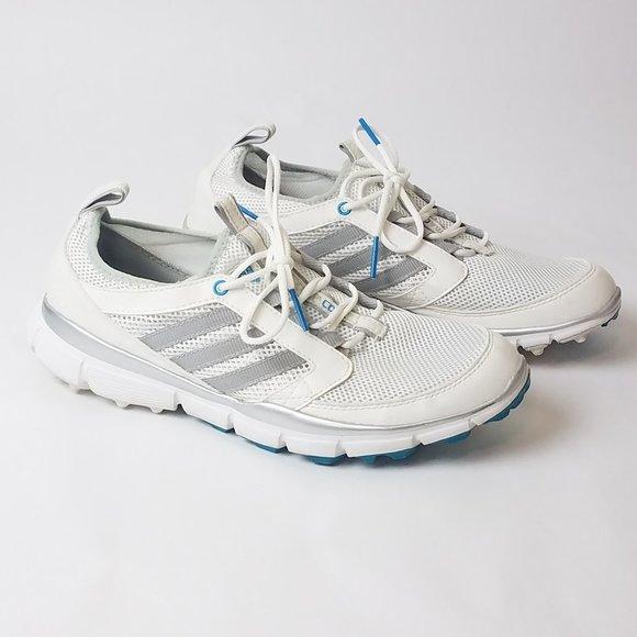 Adidas Adistar Climacool Golf Shoes White Blue